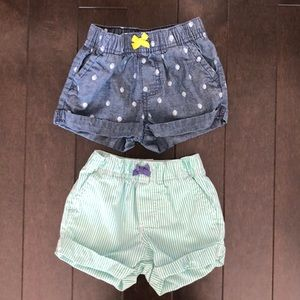 2 pack 12 month Carter's shorts
